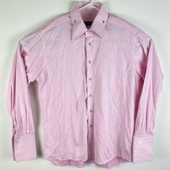AXXESS light pink cotton French cuff dress shirt